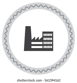 Factory vector icon. Company sign. Enterprise symbol