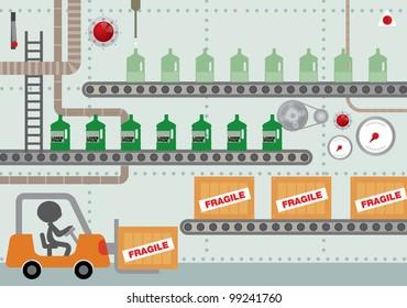 factory vector/illustration