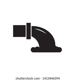 factory waste icon, logo template