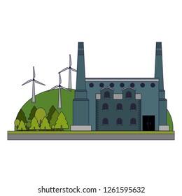 Factoy industry building