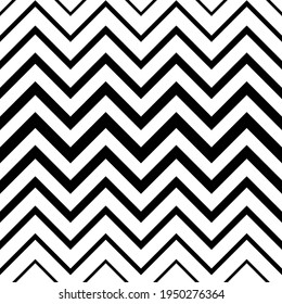Fade chevrons. Seamless pattern. Gradient halftone background with chevron pattern for design prints. Gradation transition shevron. Monochrome black and white texture. Overlay effect patern. Vector