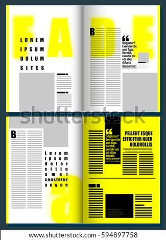 Fade yellow modern magazine layout template stock vector royalty fade yellow modern magazine layout template maxwellsz