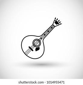 Fado guitar icon vecto
