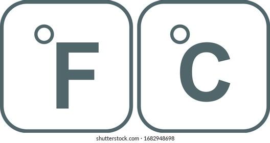 Fahrenheit and Celsius icon. Vector illustration