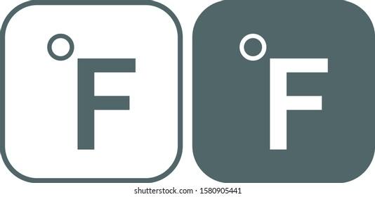 Fahrenheit icon. Fahrenheit symbol. Vector illustration