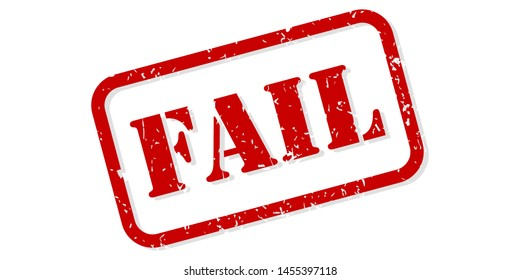 Fail red rubber stamp vector isolated