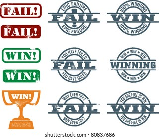 Fail and Win Internet Slang Stamps
