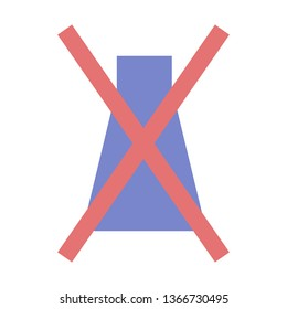 Failed, Trial Failed, No Experiment, Laboratories, Flat Style Icon Vector - Vector