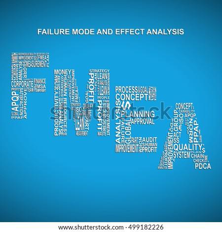 Failure Mode Effect Analysis Diagonal Typography Stock Vector ...