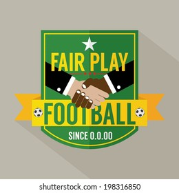 Fair Play Badge Label Vector Illustration