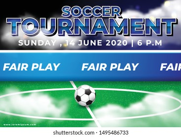 Fair Play Game Illustration for Soccer Tournament Event 2020