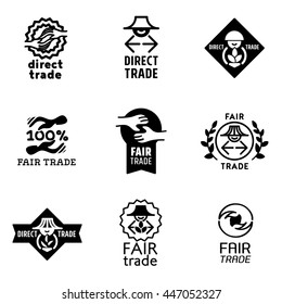 Fair Trade icons set and signs - vector illustration