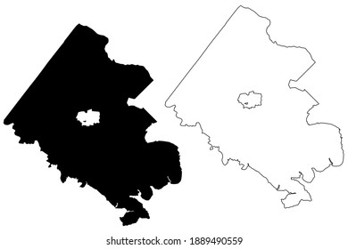 Fairfax County, Commonwealth of Virginia (U.S. county, United States of America, USA, U.S., US) map vector illustration, scribble sketch Fairfax map