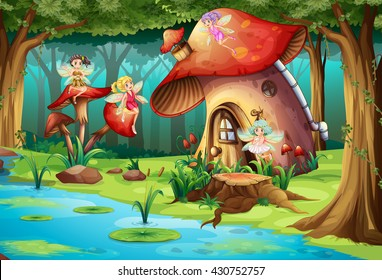 Mushroom House Images Stock Photos Amp Vectors Shutterstock