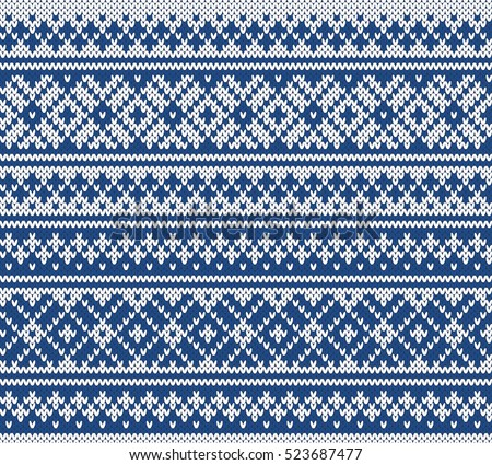 fairisle jacquard seamless knitting pattern stock vector royalty