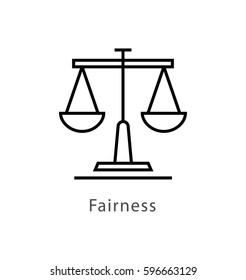 Fairness Vector Line Icon
