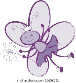 Fairy Bug Princess with Magic Wand