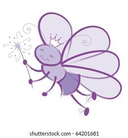 Fairy Bug Princess with wand