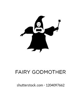 fairy godmother icon. fairy godmother symbol design from Fairy tale collection. Simple element vector illustration on white background.