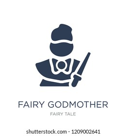 fairy godmother icon. Trendy flat vector fairy godmother icon on white background from Fairy Tale collection, vector illustration can be use for web and mobile, eps10
