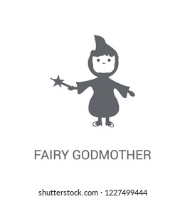 fairy godmother icon. Trendy fairy godmother logo concept on white background from Fairy Tale collection. Suitable for use on web apps, mobile apps and print media.