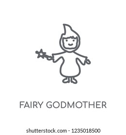 fairy godmother linear icon. Modern outline fairy godmother logo concept on white background from Fairy Tale collection. Suitable for use on web apps, mobile apps and print media.