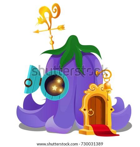 Fairy House Form Flower Bud Bellflower Stock Vector Royalty Free