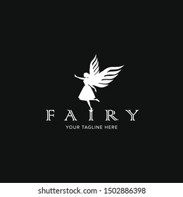 Fairy logo, icon ,Vector illustration.