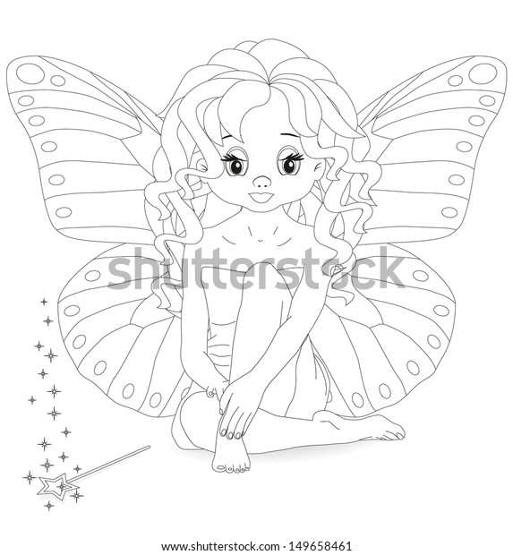Fairy Magic Wand Coloring Page Stock Vector (Royalty Free) 149658461