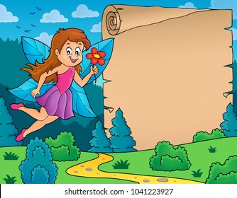 Fairy and parchment theme 1 - eps10 vector illustration.
