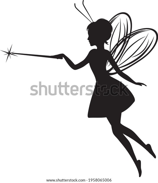 fairy-silhouette-simple-drawing-design-6
