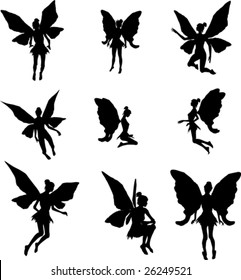 graphic relating to Fairy Silhouette Printable referred to as Fairy Silhouette Shots, Inventory Images Vectors Shutterstock