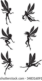 Fairy Silhouettes - Vector Illustration