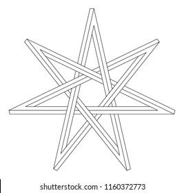 Fairy star, elven, heptagram, magical symbol, wicca