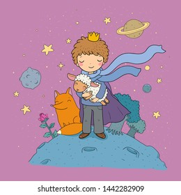 A fairy tale about a boy, a rose, a planet and a fox.