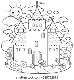 Fairy Tale Coloring Page Images Stock Photos Vectors