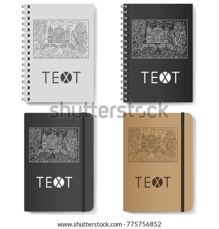 Fairy Tale Castle On The Realistic Notepad DiaryTemplate For Advertising Branding