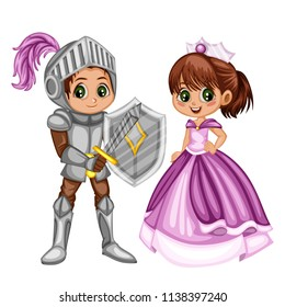 Fairy Tale Characters Set Cute Smiling Stock Vector Royalty Free