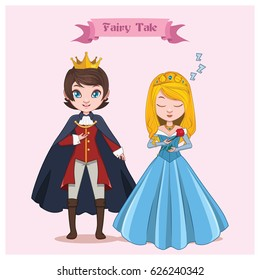 Fairy tale couple - Sleeping Beauty and prince
