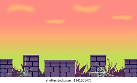 Fairy tale game background asset. Create your own jump game with such cool elements.