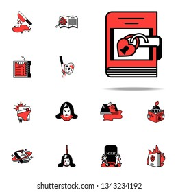Fairy tale, literary icon. Literary genres icons universal set for web and mobile