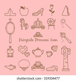 Fairy tale princess icon