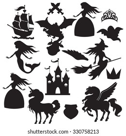 Fairy tale silhouette vector illustration