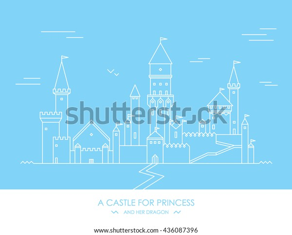 Fairy Tale Story Kids Girls Magic Stock Vector (Royalty Free