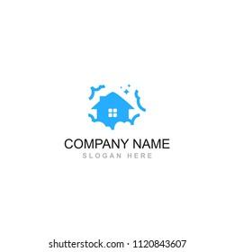 fairy wing house dream cloud home vector logo design element symbol