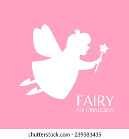 Fairy for your kid design. Vector illustration