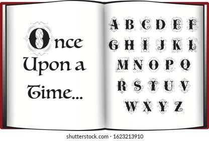 Fairytale Alphabetical Capital Letters with Flourish