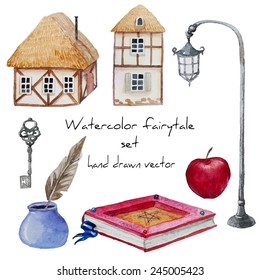 Watercolor Fairy Tales Background Images Stock Photos