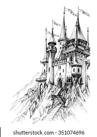 castle drawing images stock photos vectors shutterstock