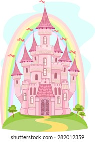 FairyTale castle and Rainbow